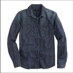 J. Crew Keeper Chambray Shirt in Star Dot